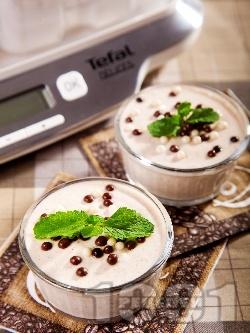 Диетичен йогурт крем с ром и канела (с подсладител) - снимка на рецептата